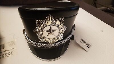NEW Shako-Master Marching Band Hat Red//Black With Carrying Case-Size Medium M1M