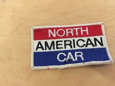 north american car  vintage  patch, new old stock  1970's