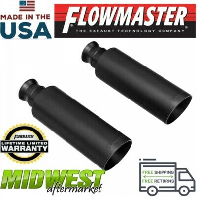 """Flowmaster 15397 Stainless Steel 3.5/"""" Angle Cut Exhaust Tip fits 2.5/"""" Tailpipe"""