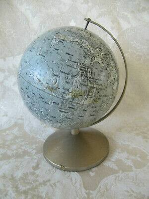 Vintage Moon Globe Replogle 6 Inch Made In USA