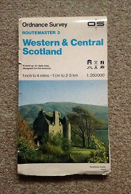 Ordnance Survey Routemaster Map 3 - Western And Central Scotland