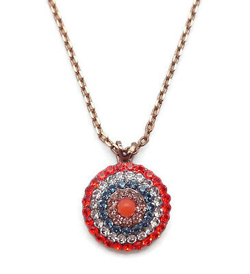 66decef18 MARIANA Swarovski English Gold Pendant Necklace Red Blue Peach Mix Gelato  117