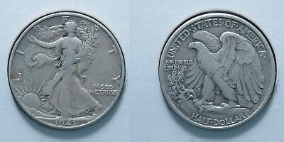 1941-D, 1941-P, and 1941-S Walking Liberty Half Dollars 90% Silver Coins