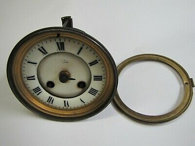 A French Striking Clock Movement with Enamel Dial