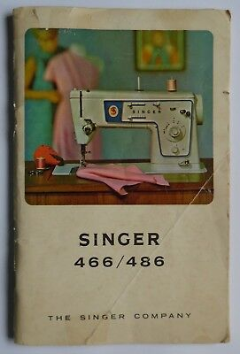 Original SINGER 466 & 486 Instruction Sewing Machine Manual (76+ Pages)
