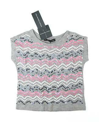 French Connection Girls Grey T-Shirt Age 3-4