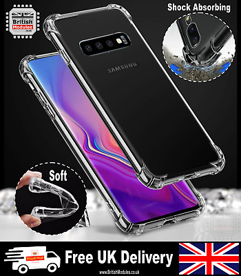 Samsung Shock Proof Crystal Clear Soft Silicone TPU Gel Cover Slim Bumper Case