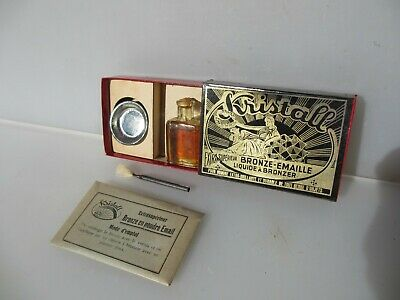 Vintage French Gold Gilding Kit Bronze Gilt Brass Antique Boxed -NEW OLD STOCK