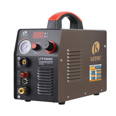 Lotos LTP5000D 50Amp Non-Touch Pilot Arc Plasma Cutter, Brown, 110V/220V,