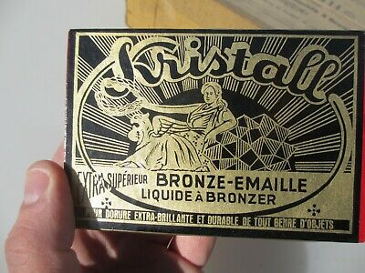 Vintage French Gold Gilding Kit Bronze Gilt Brass Antique Boxed NEW OLD STOCKx10
