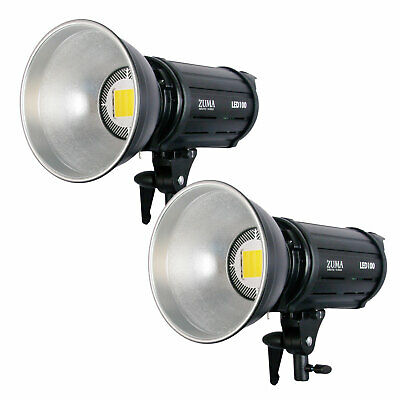 LED 100W Photo Video 2PCS Photography Lighting Kit 5500K 20000 Lumens of Light