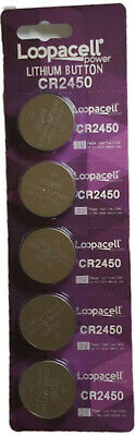 250 pcs CR2450 CR 2450 3v Lithium Batteries Button Cell Loopacell USA Fast Ship