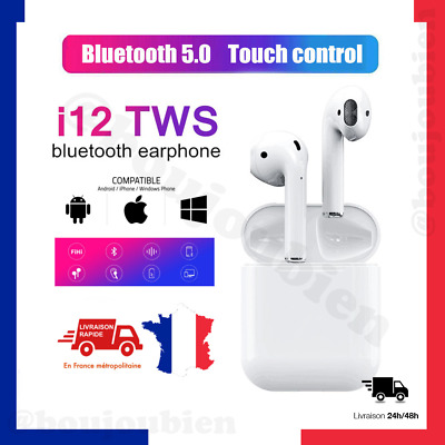 Ecouteurs i12 tws bluetooth 5.0 clone airpods earbuds wireless i10 i11 sans fil