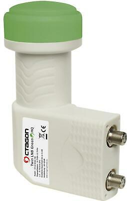 Octagon Green Twin OTLG 0.1dB LNB Sensitive PLL Technology 25 MHZ Crystal