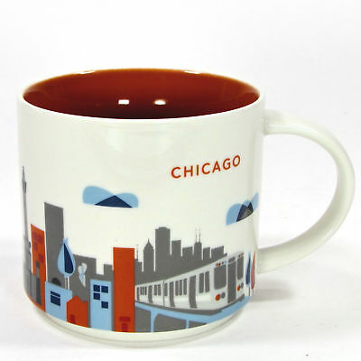 Starbucks Coffee Chicago Illinois City You Are Here Collection L Train Cup Mug