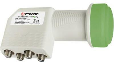 Octagon Green Quad OQSLG 0.1dB LNB Sensitive PLL Technology 25 MHZ Crystal