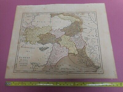 100% Original Turkey In Asia Map By Wilkinson C1791 Original Colour Low Start