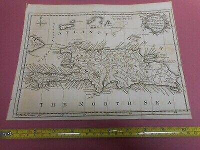100% Original Island Of Hispaniola  Map By T Kitchin C1784  Low Start