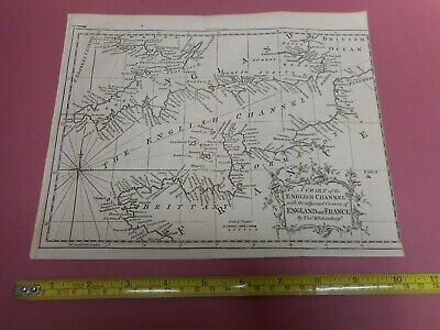 100% Original Chart English Chanel Map By T Kitchin C1784  Low Start