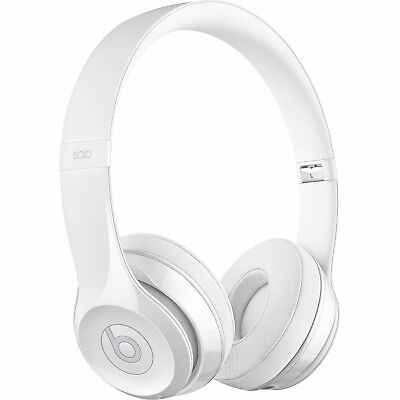 BEATS BY DRE Solo 3 BLUETOOTH WIRELESS HEADPHONES GLOSSY WHITE