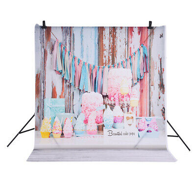 Andoer Photography Backdrop Flower Ice Cream for Baby Studio Portrait Shoot A1C5