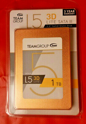 "Team Group L5 LITE 3D 2.5"" 1TB SATA III 3D NAND Internal Solid State Drive (SSD)"