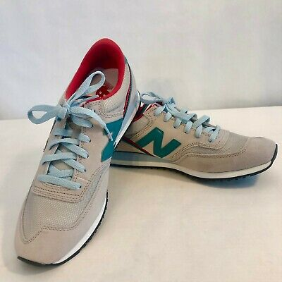NEW BALANCE FOR J.Crew 620 Sneakers Womens Size 9 Light Gray & Blue CW620LB