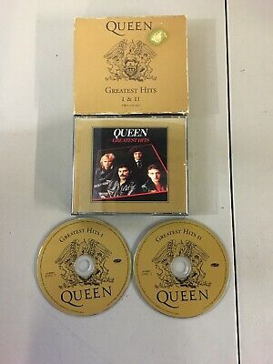 QUEEN-GREATEST HITS I & II 1994 HOLLYWOOD RECORDS 2-Disc Cd Set HR-62042 1995