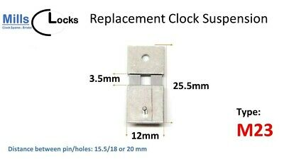 Steel Clock Pendulum Suspension Spring. (25.5mm x 3.5mm x 12mm) (Type M23)