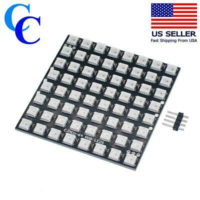 LED MATRIX 8X8 WS2812B RGB, works with Neopixel Library for Arduino