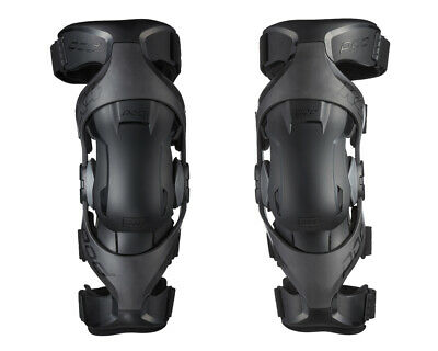 New 2019 Pod K4 2.0 Knee Braces Black Pair + Free Bag Motocross Mx Enduro Adult
