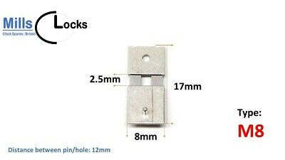 Hermle Clock Pendulum Suspension Spring. (17mm x 2.5mm x 8mm) (Type M8)