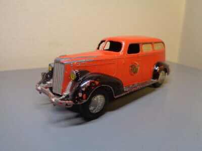 TEKNO DENMARK NO 424 VINTAGE 1940'S PACKARD AMBULANCE VERY RARE ITEM VERY  GOOD