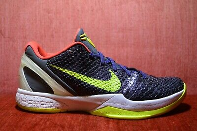 7e3993deea75 CLEAN NIKE ZOOM KOBE VI 6 SUPREME CHAOS JOKER INK PURPLE VOLT GREY Size 9