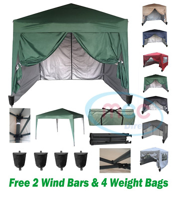mcc direct Premier 3x3m Waterproof Pop-up Gazebo with Silver Protective Layer WS
