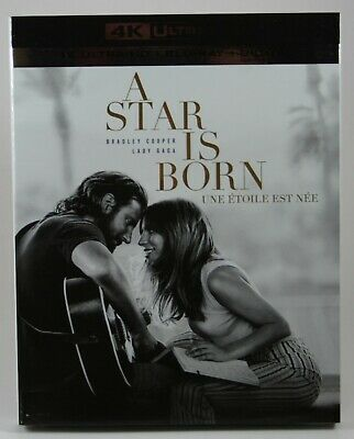 A Star Is Born [4K UHD + Blu-Ray + Digital] BRAND NEW Slipcover Lady Gaga Cooper