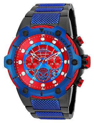 Invicta Men's 25782 'Marvel' Spiderman Black and Blue Stainless Steel Watch