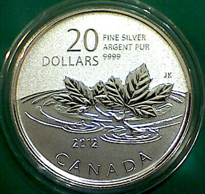 2012 CANADA $20 for $20 Farewell to Penny pure silver coin : coin in 2 x 2