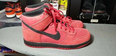 new arrival b0045 dd8bb Brand New Nike Dunk Red Black Suede Size 11.5 not SB