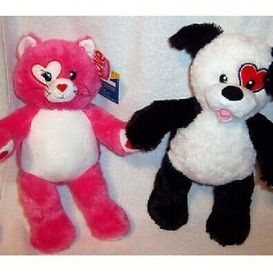 Build A Bear Kisses For You Cat+Dog set of two *New No Tags*