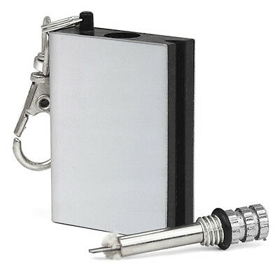 Metal Match Box Lighter Gadget Key Ring - By TRIXES