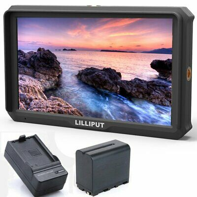 Lilliput A5 5inch IPS Full HD 4K HDMI Monitor + 6600mAh Battery For DSLR Camera