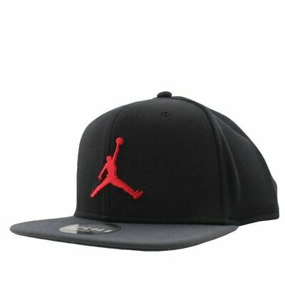 70f40499125 Nike Air Jordan Jumpman Snapback Cap Black Red Adjustable 861452 015 NEW  Unisex
