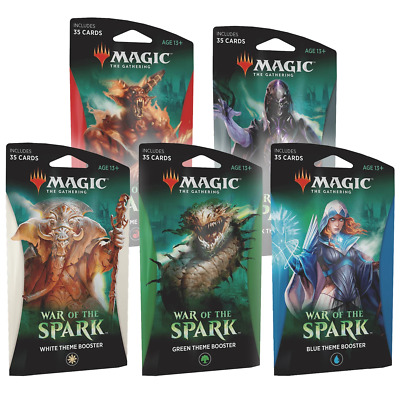 Magic the Gathering MTG War of the Spark Theme Booster Set of 5