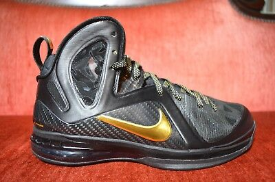 size 40 6158d 0a40e WORN 1X Nike Lebron 9 IX Elite Black Gold Size 8 P.S. 516958-002 Playoff