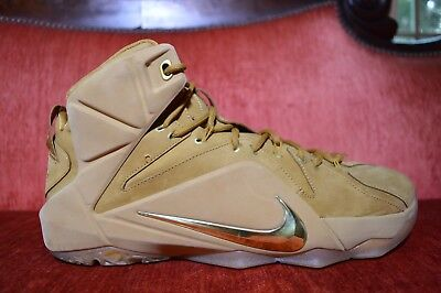 b9a853892a97 CLEAN Nike LeBron 12 XII EXT Wheat Size 12 744287-700 kyrie cork what the