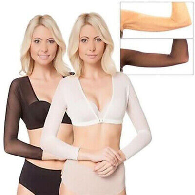 Women Sexy Black Lace Arm Shaper Slimming & Concealing Thinner Slim Arm top