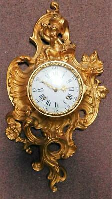 good quality hermle brass cased cartel clock