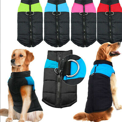 Waterproof Pet Dog Fall Winter Clothes Padded Jacket Vest Warm Dog Coat Jacket n