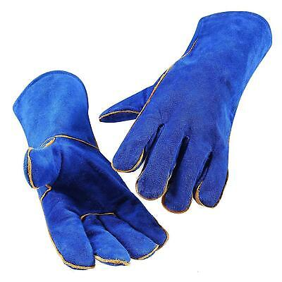 DEKO Pro Protective TIG Welding Work Gloves Heat Resistant Cowhide BBQ Gloves